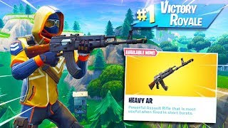 The New HEAVY AR Gameplay in Fortnite!!