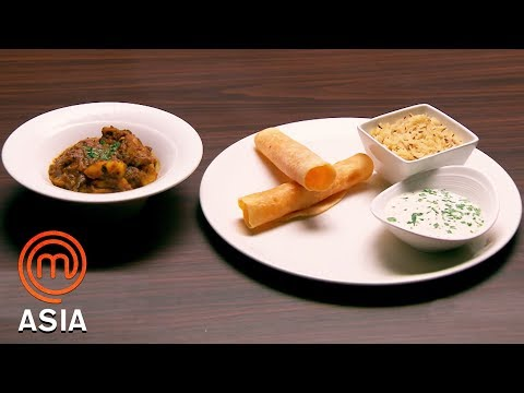 Spicy Chicken Curry & Cumin Rice | MasterChef Asia | MasterChef World