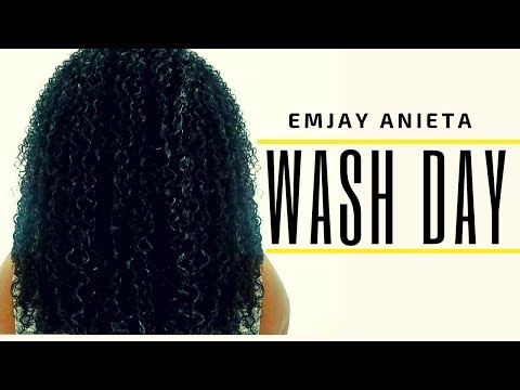My Simple & Easy Wash Day Routine  Moisturized Natural Curly Hair Summer 2017