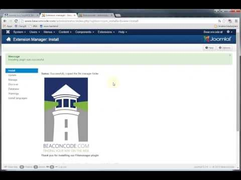 Installation Video: TinyMCE File Link & Manager Plugin - Joomla 3.x | Beaconcode.com