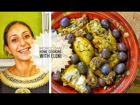 Chicken Tagine With Lemon and Olives Recipe | Djej M'Chermel | Moroccan food