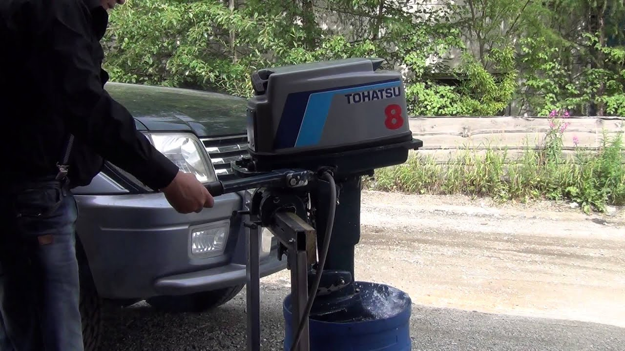 промывка лодочных моторов