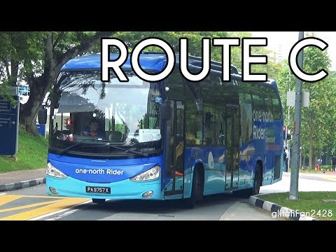 [ComfortDelGro] PA9757X on one-north Rider Route C - Scania K230UB SC Chivalrous