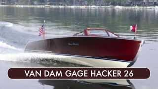 2007 Van Dam Gage Hacker 26 Classic Wooden Runabout For Sale