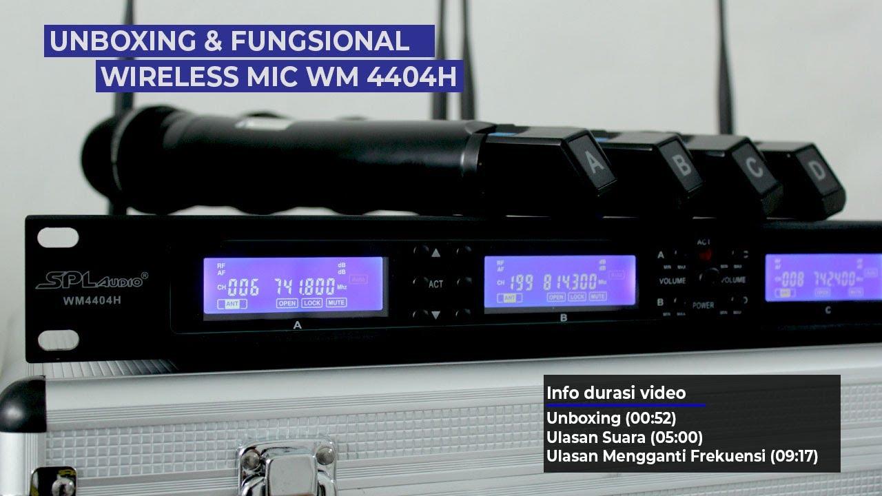 Review Mic Wireless SPL Audio WM4404