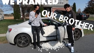 WE PRANKED OUR BROTHER!