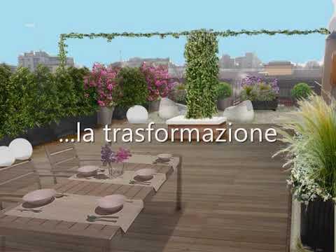 Progetto terrazzo a Milano - YouTube