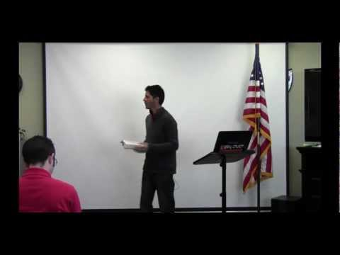 Jonathan Mills of Glory Church at Trinity's Speakers Forum on 10-7-2011