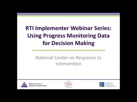 Using Progress Monitoring Data for Decision Making
