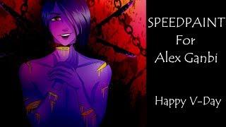 Speedpaint - Gift for Alex Ganbi (Happy Valentine's Day!) WARNING GORE!!!