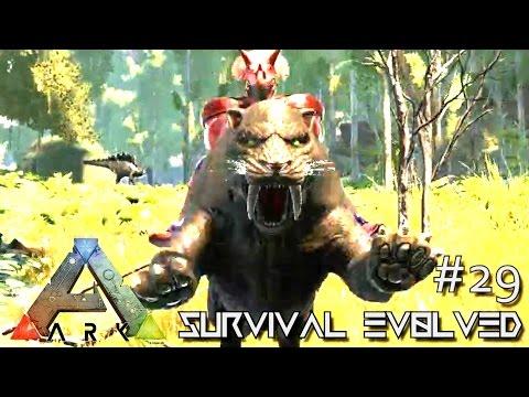 ARK: Survival Evolved - PERFECT 150 SABERTOOTH TAME !!! - SEASON 4 [S4 E29] (ARK Gameplay)