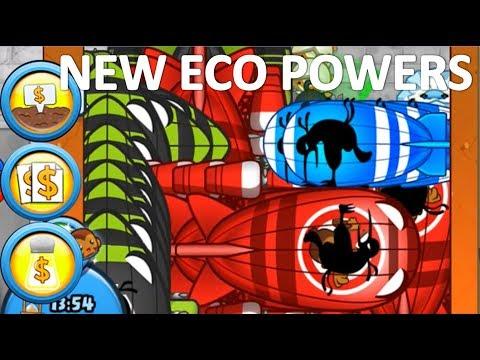 BTD Battles Update 6.2! Greeding Like CRAZY with NEW Eco Powers!