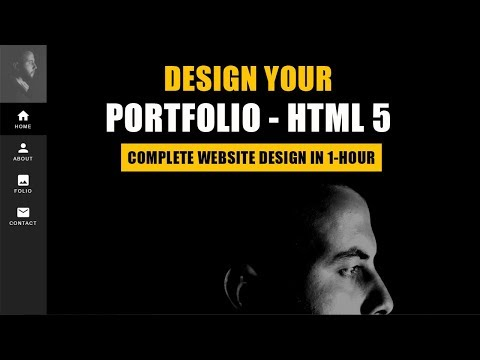 Build your first PORTFOLIO website for job interview in 1 Ho
