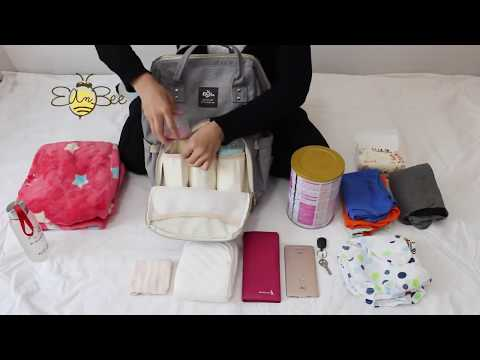 Upgraded Diaper Bag Multi-Function Waterproof Travel Backpack Nappy Bags For Baby Care