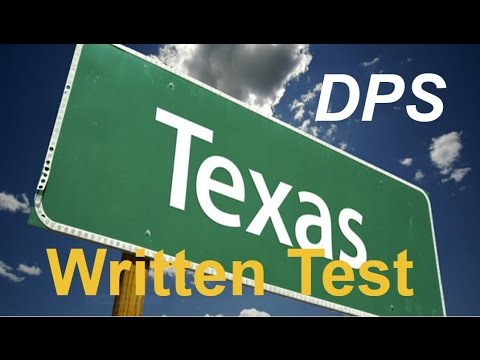 Texas DPS Test Questions #1 for Permit Practice and Driver