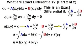Differential Equation - 1st Order Sol. (2 of 10) Exact Differentials: Introduction (Part 2)