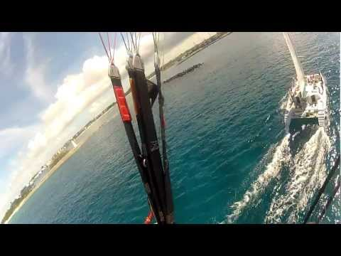 Paramotor Bahamas Flight over Western Port entrance Nassau: Fun with boats
