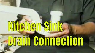 Kitchen Sink Drain Connection  👍👍👍👍