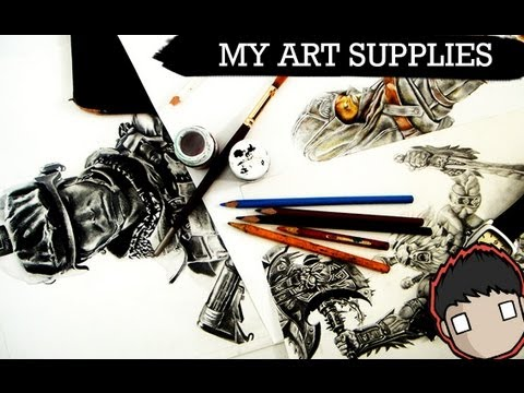 My ART Supplies for Realism Drawing