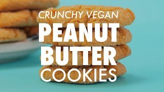 Crunchy Vegan Peanut Butter Cookies - Loving It Vegan