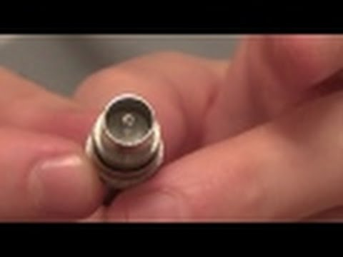 How to fit a TV Connector Plug onto a Coaxial AERIAL Cable