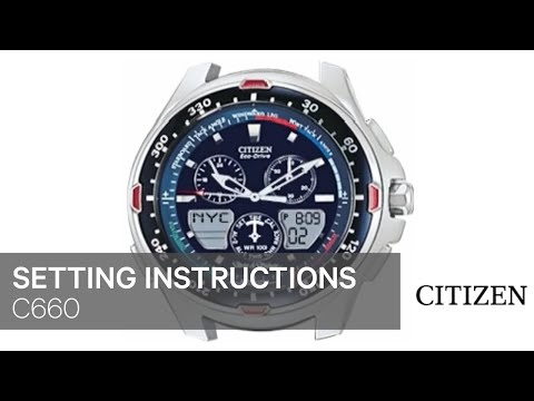 197f4c037d4 OFFICIAL CITIZEN C660 Setting Instruction - YouTube
