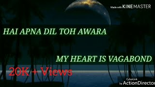 Hai apna dil to awara_sanam_cover song by Haris Rajbanshi_lyrical song with english translation