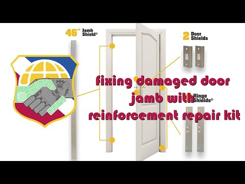 door kicked in repair fixing damaged door jamb with reinforcement repair kit ez armor combo set