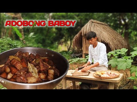 COOKING AUTHENTIC PORK ADOBO | Life in the Philippine Countryside | Gayyem BenBen