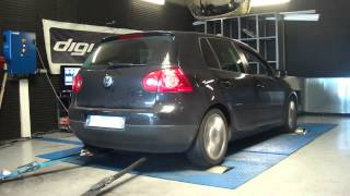 VW Golf 5 tdi 140cv @ 180cv reprogrammation moteur dyno digiservices