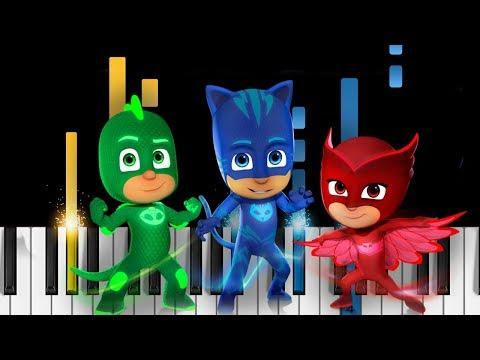 PJ Masks Theme Song - EASY Piano Tutorial