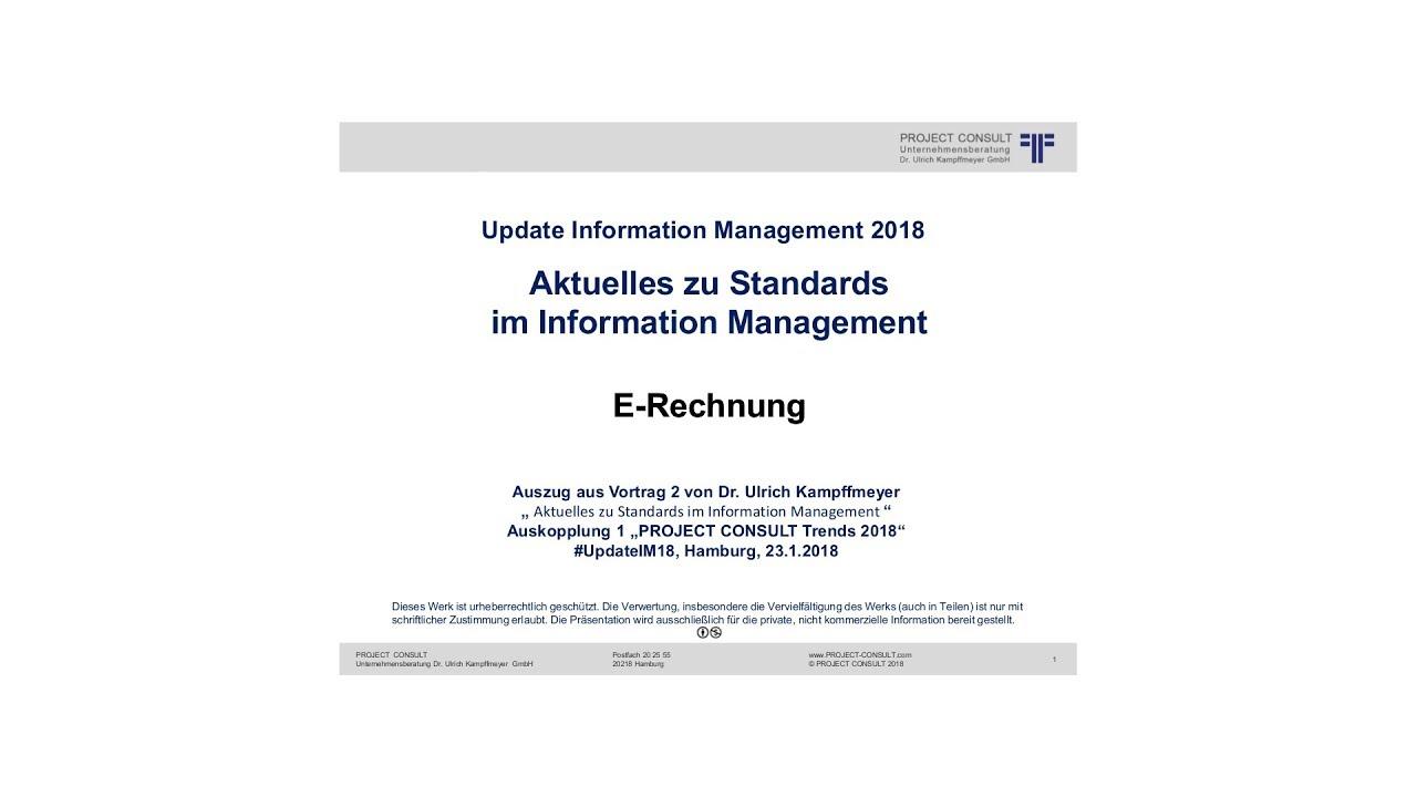 De E Rechnung Dr Ulrich Kampffmeyer Auszug Aus Update Im