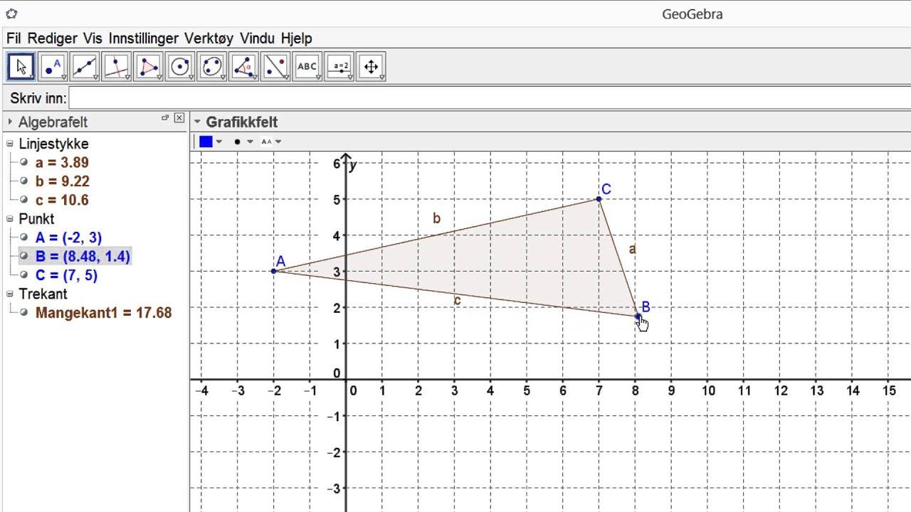 GeoGebra - 24 Trekanter og andre mangekanter MUV
