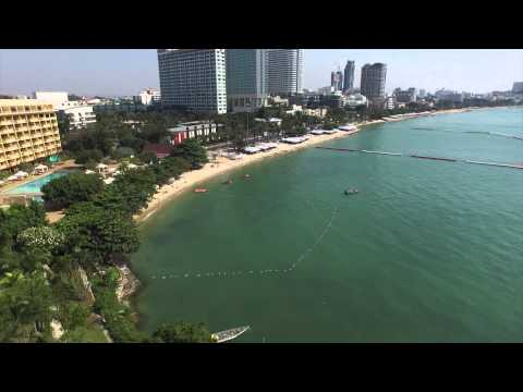 Pattaya Beach 500M high aireal fly cam dji inspire