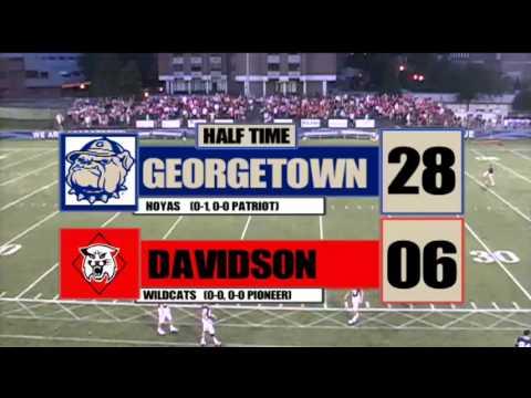 Georgetown football vs. Davidson, 9/8/13