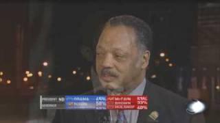 Jesse Jackson Cried after Obama's Election