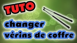 TUTO changer les vérins de coffre (how to replace tailgate lift support strut)