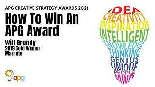 How to Win an APG Award (with Will Grundy)