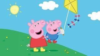 Peppa Pig in Hindi - Flying a Kite - Patang - हिंदी Kahaniya - Hindi Cartoons for Kids