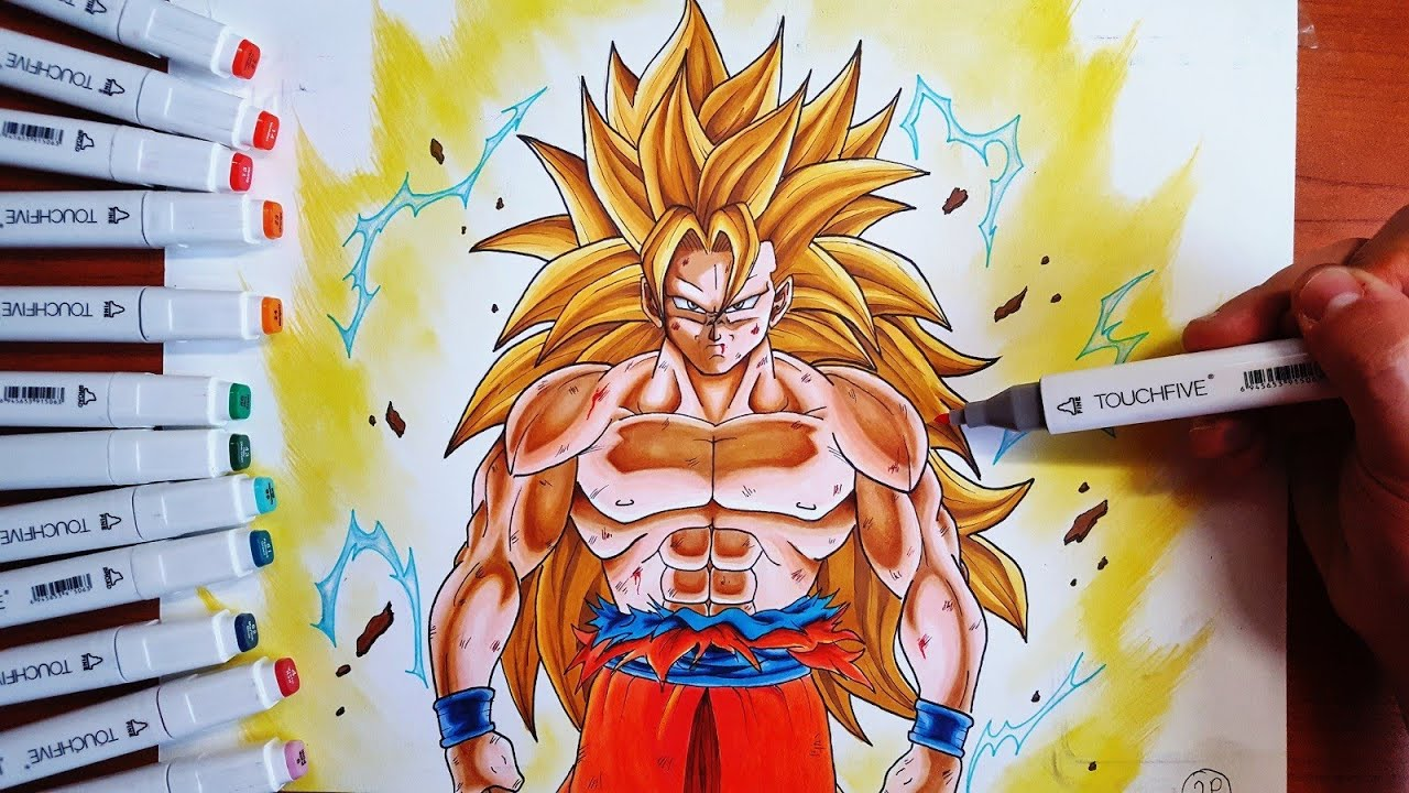 Disegno Goku Ssj3 Dragon Ball Z Speed Drawing Youtube