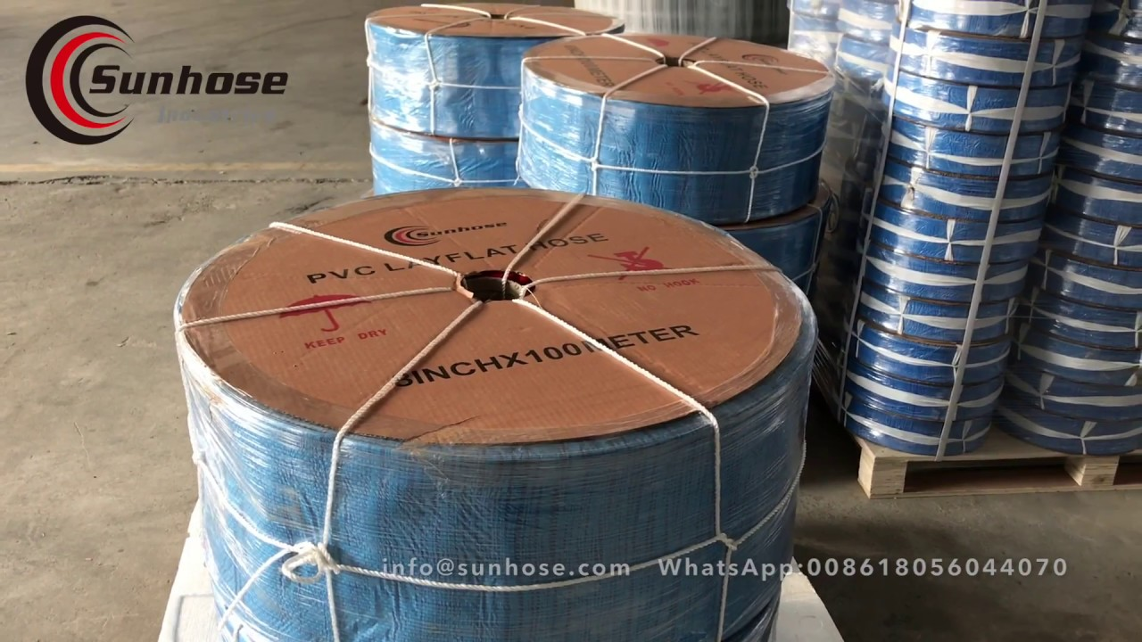 Layflat hose | Lay Flat Hose Production - SUNHOSE.COM - YouTube
