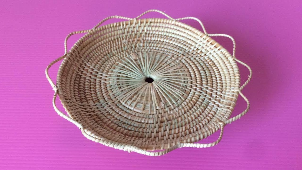How To Make Rattan Tray Making Wicker Trays Step By Diy Paper Crafts