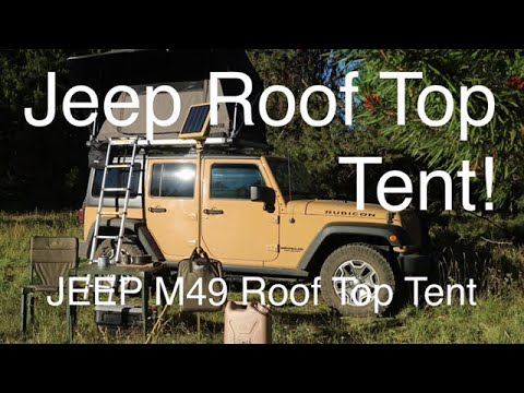 The Perfect Rooftop Tent For A Jeep JK ?   Jeep M49 Roof Top Tent From  Freespirit Recreation