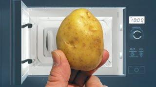 Как очень быстро приготовить картошку в мундире в микроволновке