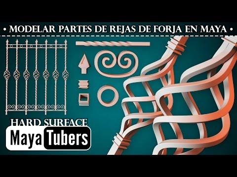 Modelar elementos de Reja o Cerca en Forja - Piña, Barra Retorcida, Rizos en Maya - MayaTubers