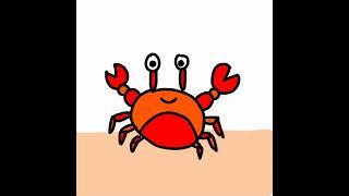 Simply draw a crab 꽃게그리기
