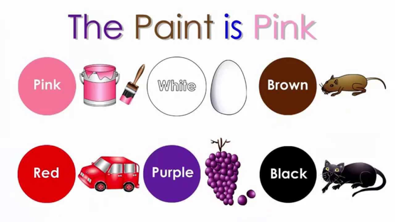 The Paint Is Pink Hd Babies Learn Colors Teach Toddlers Colours Kids Learning Nursery Song Traile
