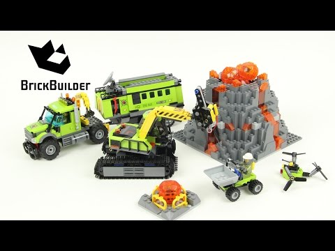 Lego City 60124 Volcano Exploration Base - Lego Speed Build