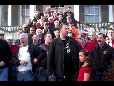 Ambassadors of Harmony Main Street Christmas caroling in St  Charles