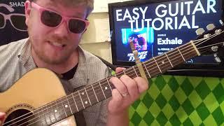 Exhale - R3HAB, Ella Vos // guitar lesson beginner tutorial easy chords strumming acoustic